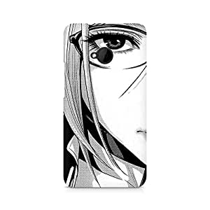 Mobicture Girl Abstract Premium Printed Case For HTC One M7