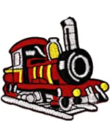 Red Train DIY Applique Embroidered Sew Iron on Patch TR-003
