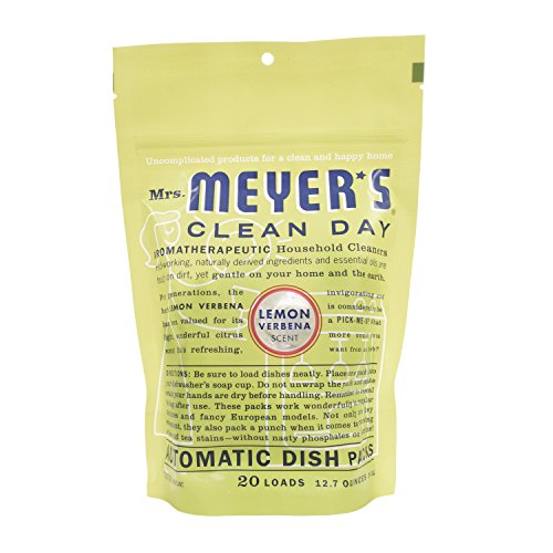 Mrs. Meyer's Clean Day Lemon Verbena Auto Dishwashing Packs -  20 Loads - 12.7 oz  (Pack of 6) (Meyers Dishwasher Packs compare prices)