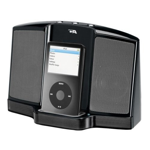 Cyber Acoustics Portable Digital Docking Speaker for iPod (Black)