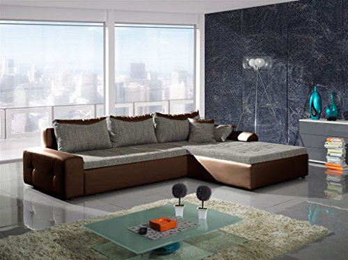 Liverpool big schlaf sofa braun couch couchgarnitur schlaffunktion gro xxl sofabett couchbett - Couchgarnitur xxl ...