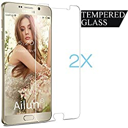 Galaxy Note 5 Screen Protector,[2 Packs]by Ailun,Tempered Glass,9H Hardness,2.5D Curved Edge,Ultra Clear,Bubble Free,Anti-Scratch,Fingerprints&Oil Stains Coating,Case Friendly-Siania Retail Package