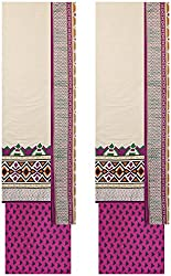 Payal Collection's Women's Cotton Unstitched Salwar (Off White)