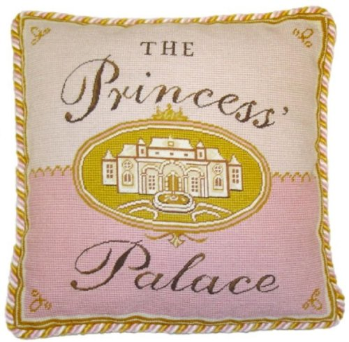 Hkh Princess Palace Finest Pettipoint Pillow With Two Color Cording front-996675