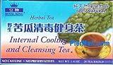 Bitter Gourd Internal Cooling and Cleasing 100% Natural Caffeine Free Herbal Tea - 20 Tea Bags (1.4 Oz)