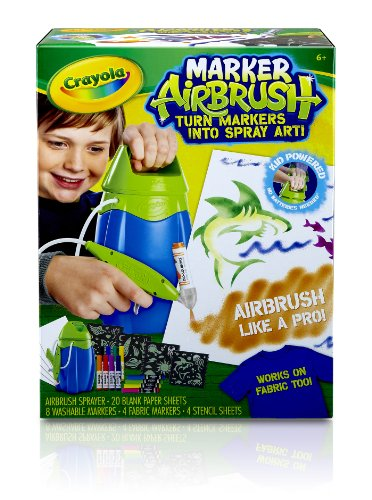 Crayola Marker Airbrush Set, (04-8727) back-1006363
