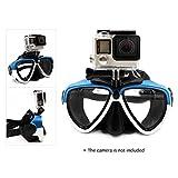 TELESIN Scuba Diving Mask Goggles Swimming Face Mask with Bracket Mount for GoPro SJCAM Dazzne Xiaomi Yi Sports Action Camera