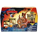 How To Train Your Dragon Movie Playset Battle & Collapse Catapult Includes Sn