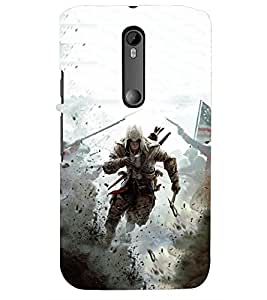 PRINTSWAG WARRIOR Designer Back Cover Case for MOTOROLA MOTO G3