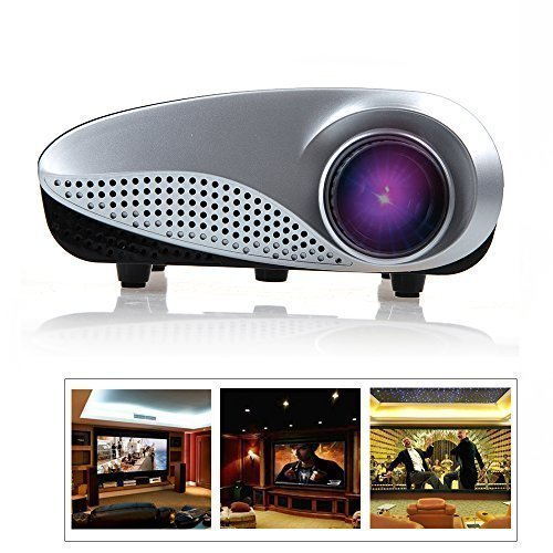 Flylinktech® Mini Pocket Led Projector Support PC Laptop With HDMI/SD/USB/VGA/AV/TV Input For home Theater Iphone Android Phone-Black