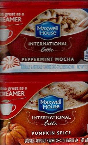 Maxwell House International Pumpkin Spice And Peppermint Mocha Latte, 1 Of Each