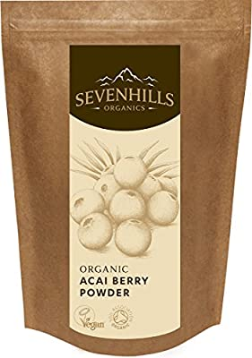 Sevenhills Wholefoods Organic Acai Berry Powder, Soil Association certified organic
