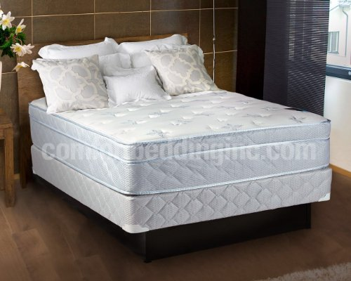 Queen Size Pillow Top Mattress Set front-10192