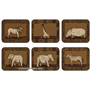 Jason Safari by Wendy Wooden Coasters - Set of 6