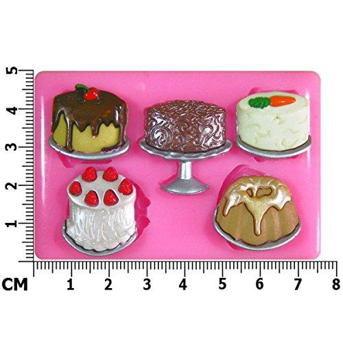 Carotte Fraise Cercle à gâteau Moule à gâteau Moule en Silicone pour décoration de gâteaux en pâte à sucre en forme de gâteau de fondant outil Par les fées Blessings