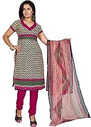 Fabgruh Presents Crepe Dress Material(Multi)