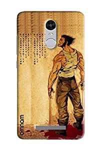 Omnam Man With Breaking Nerves Emotional Designed Back Cover Case For Xiaomi Redmi Note 3