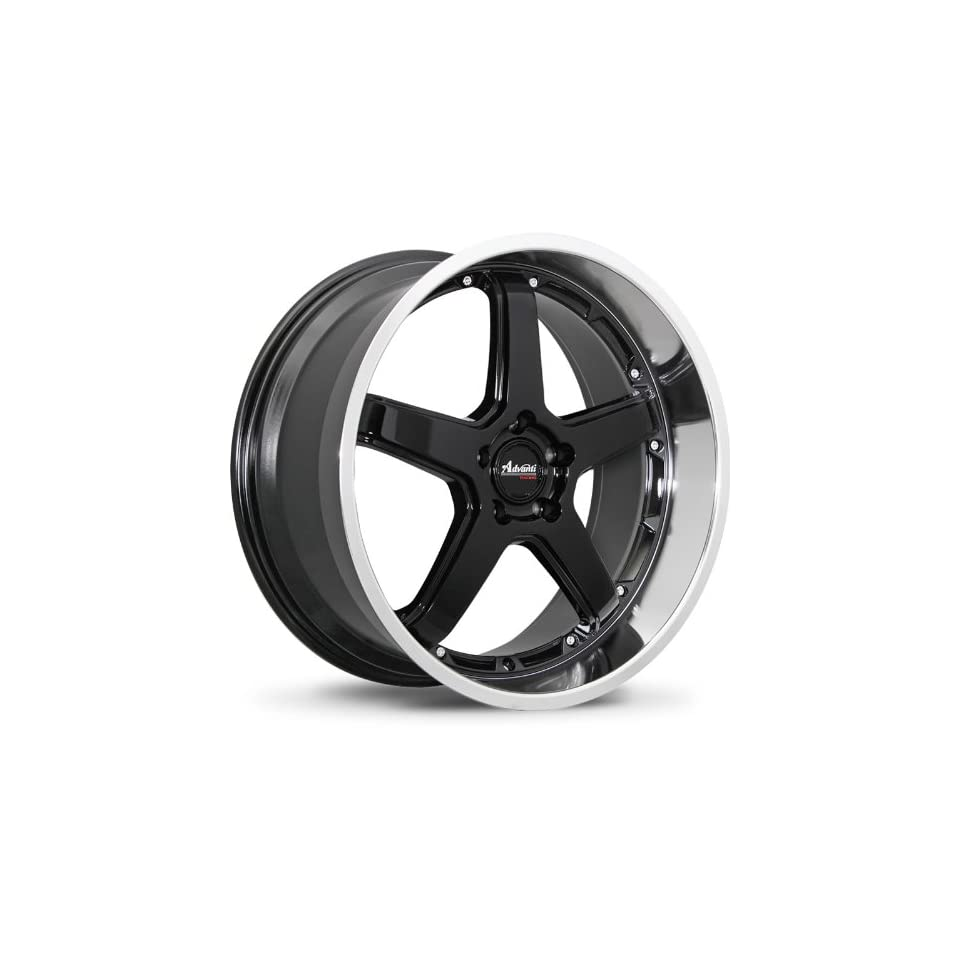 Advanti Racing Traktion 18 Black Wheel / Rim 5x4.5 with a 42mm Offset and a 73.10 Hub Bore. Partnumber A28851442B