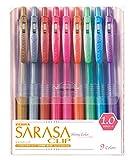 ゼブラ 水性ボールペン サラサクリップ 1.0 9色 JJE15-9CA