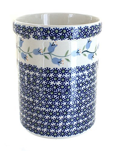 polish-pottery-tulip-utensil-jar-by-blue-rose-pottery