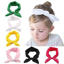 Roewell® Baby Elastic Hair Hoops Headbands and Girl\'s Fashion Soft Headbands (6 Pack)