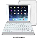 ZAGG Cover Case with Backlit Bluetooth Keyboard for Apple iPad mini-White
