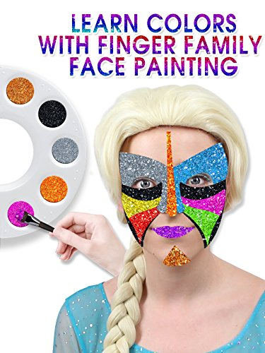 Learn Colors With Finger Family Face Painting