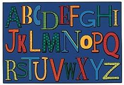 Carpets for Kids 48.47 Playful Alphabet 4 ft. x 6 ft.