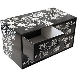 3 st ck aufbewahrungsbox mit 4 schubladen. Black Bedroom Furniture Sets. Home Design Ideas