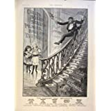 Impresión Antigua de los Niños 1891 de la Escalera del Anuncio del Jabón de la Marca del Mono