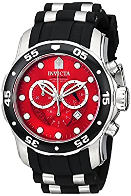 Invicta Men's 6979 Pro Diver Collection Chronograph Black Polyurethane Watch