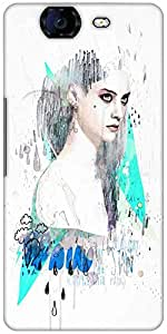 Snoogg Angry Girl Designer Protective Back Case Cover For Micromax Canvas Knight A350