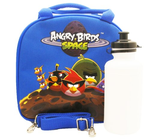 Angry Birds Space Lunch Bag with Water Bottle - Royal - 1