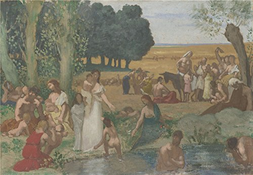 Oil Painting 'Pierre Cecile Puvis De Chavannes Summer ' Printing On High Quality Polyster Canvas , 10 X 14 Inch / 25 X 37 Cm ,the Best Study Artwork And Home Decoration And Gifts Is This Vivid Art Decorative Canvas Prints