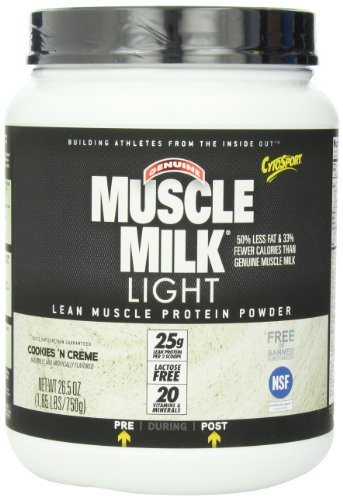 Cytosport Muscle Milk Light, Cookies And Creme, 1.65 Pound