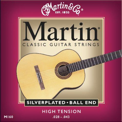 Martin M160 Silverplated Ball End Classical Guitar