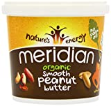 Meridian Organic 100 Percent Smooth Peanut Butter 1 Kg (Pack of 3)