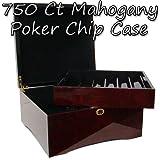 Brybelly 750-ct. Glossy Wooden Mahogany Poker Chip Case