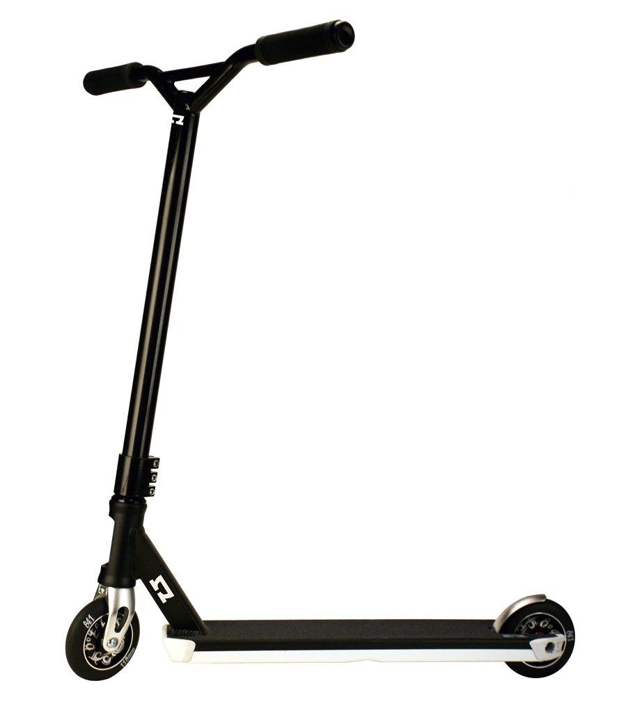 AO Epsilon Complete Stunt Scooter, monopattino a due ruote di colore nero per acrobazie