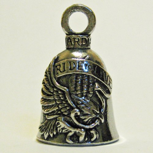 Guardian® Ride to Live Live to Ride Eagle Motorcycle Biker Luck Gremlin Riding Bell or Key Ring