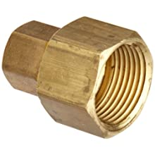 Anderson Metals Brass Tube Fitting, Coupling, Compression x NPT Female