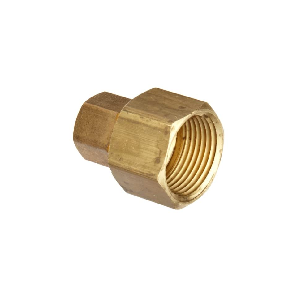 Anderson Metals Brass Tube Fitting, Coupling, 3/4 Compression x 3/4 Female Pipe