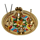 Brass Pooja Thali Diwali Decoration Diwali Gift Item Brass Pooja Item Home Decor Item Set Of 6 - B019RG48Z0