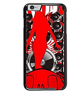 Printvisa Red Musical Girl Pic Back Case Cover for Apple iPhone 6S
