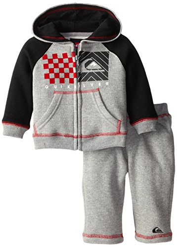 Quiksilver Babys Newborn Gray Hoody With Pull On Pant, Gray, 6-9 Months front-294702