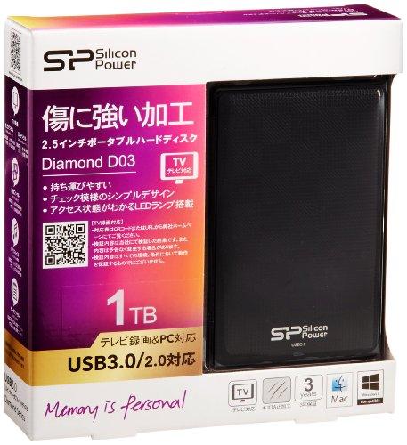 Silicon Power Diamond D03 TV&PC対応 ポータブルHDD 1TB