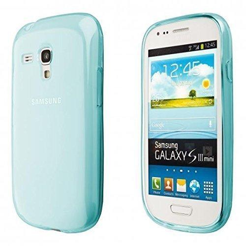 ECENCE Samsung Galaxy S3 mini i8190 i8200 Silikon TPU case schutz hülle handy tasche cover schale durchsichtig blau 14020305
