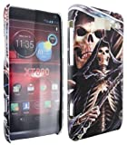 MobileExplosion Skelton Skull Hood Matt Design Hard Shell Back Protection Case Cover Cover Clip On Protection For - Motorola Razr I XT890