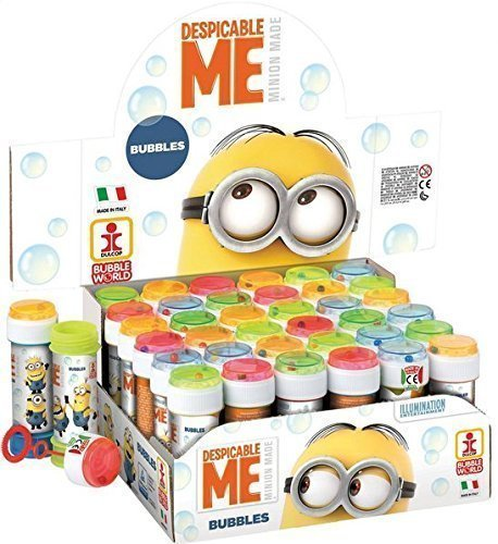 Fancy Me Box Of 36 Or 6 Pot Of Boys Girls Despicable Me Minion Bubbles Party Bag Stocking Fillers Garden Game Idea (6 (Minions Party Ideas)