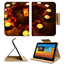 buy Samsung Galaxy Tab 3 10.1 Tablet Flip Case Diamond Ring In A Box In The Middle Of A Heart With Petals Roses And Candles Lights 4573624 By Msd Customized Premium Deluxe Pu Leather Generation Accessories Hd Wifi 16Gb 32Gb Luxury Protector Case
